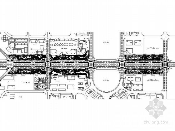 [广西]特色风格道路景观规划设计施工图