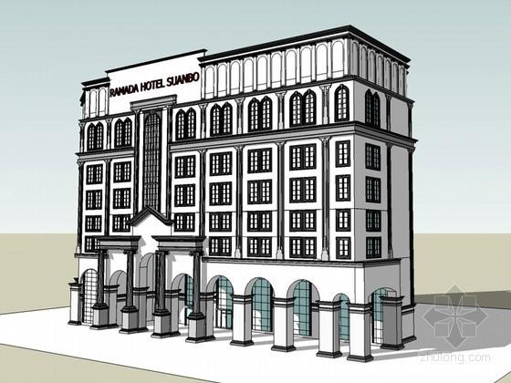 欧式酒店SketchUp模型下载