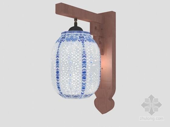 镂空壁灯3D模型下载