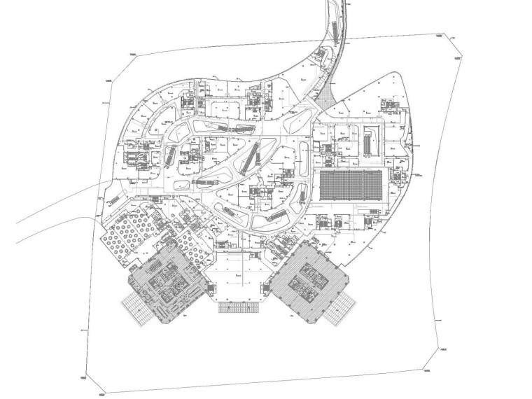 [贵州]400米超高层双子塔商业及地下智能化施工图(大院最新)