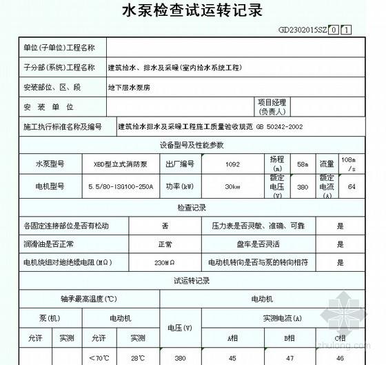[广东]消防工程表格填写实例(全套)