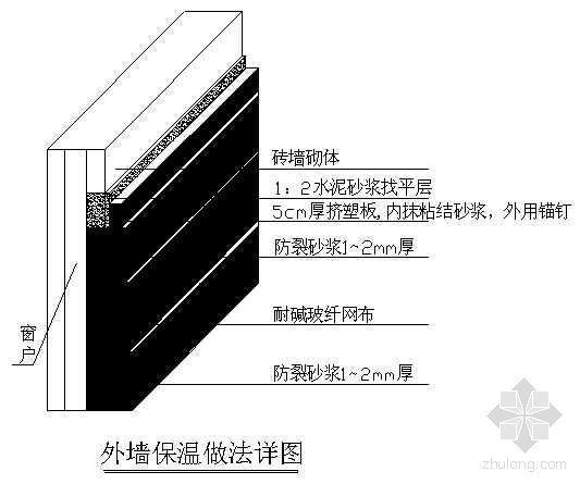 承德市某污水处理厂附属建筑外墙保温工程施工方案(挤塑板)