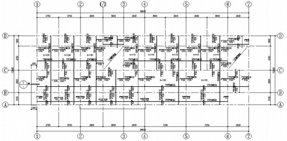 三层坡屋顶公共服务建筑结构施工图
