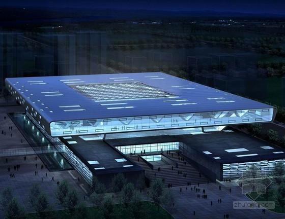 北京某大型图书馆钢结构提升施工方案(鲁班奖 地面拼装 整体提升)