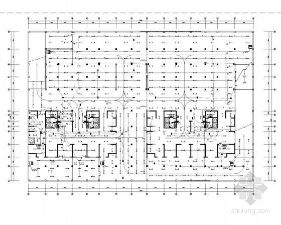 [山东]28层商住综合楼全套电气施工图纸(含楼宇自控系统)