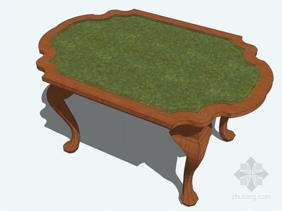 欧式茶桌SketchUp模型下载