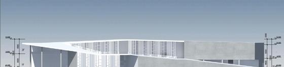 [深圳]两层清水混凝土拍卖交易中心改建设计方案文本-两层清水混凝土拍卖交易中心改建立面图