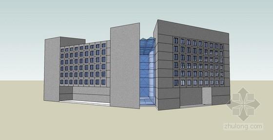 某八层现代型休闲洗浴中心方案(含sketchup模型)