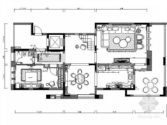 [西安]某叠加多层别墅简约风格装修图
