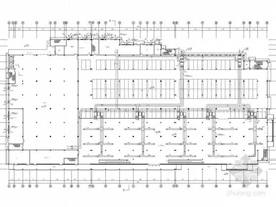 大型仓储式超市空调通风排烟系统设计施工图(水冷离心机组)