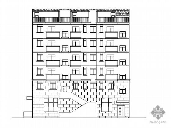 [马鞍山]某六层危旧住宅楼改造建筑施工图