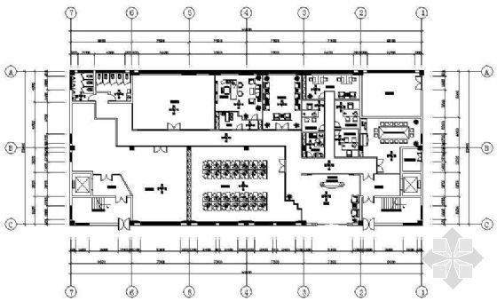 某服饰公司办公室CAD装修图
