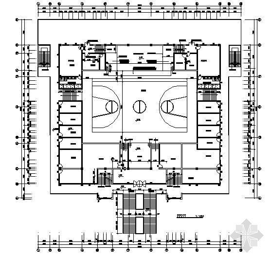某二层体育馆建筑施工图-3