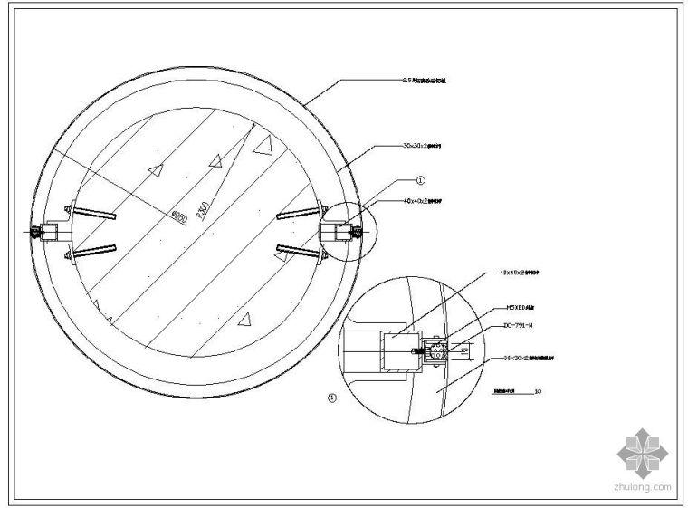 某圆柱装饰施工节点构造详图