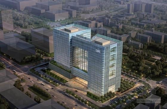 [天津]现代风格高层矩形企业办公楼建筑设计方案文本