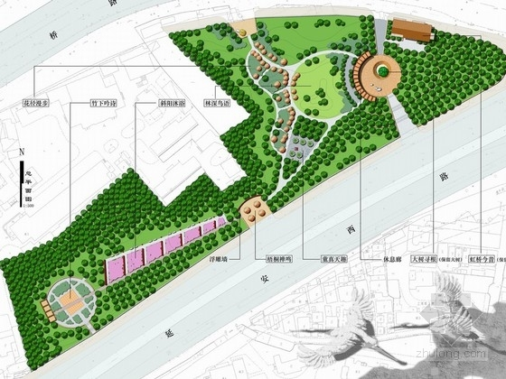 [上海]城市主干道旁的花园绿地景观设计方案(上海权威机构)