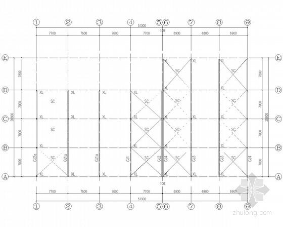 综合市场多层门式钢架结构施工图(含建施)