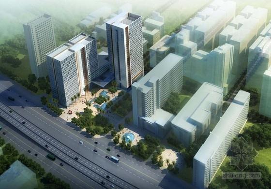 [湖南]点式塔楼高层科技办公大厦建筑设计方案文本-点式塔楼高层科技办公大厦效果图