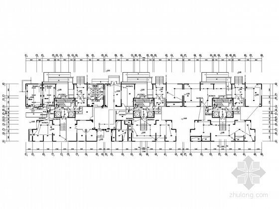 [四川]大型住宅小区项目完整电气施工图纸125张(4栋高层+地下室)