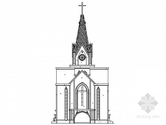 [河南]某大型基督教堂建筑扩初图