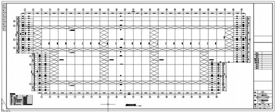 某机场航站楼平面桁架系空间结构设计图