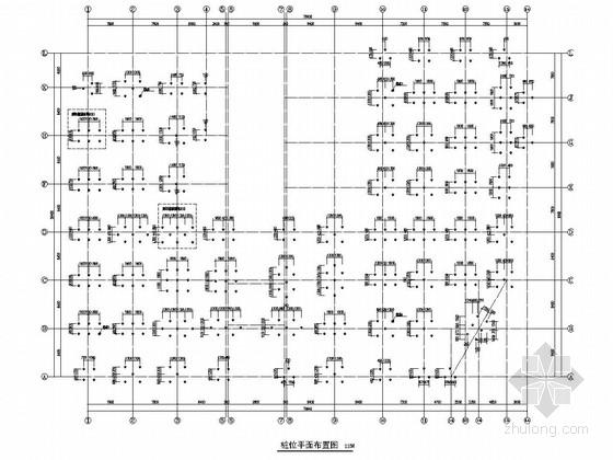 五层框架结构产业园标准厂房结构施工图