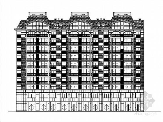 [浙江]小型80户带阁楼商住综合楼建筑施工图