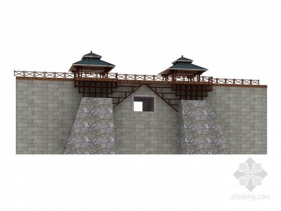 瀑布景观设计3d模型下载