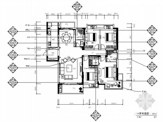 [南昌]现代简欧四室两厅室内装修施工图