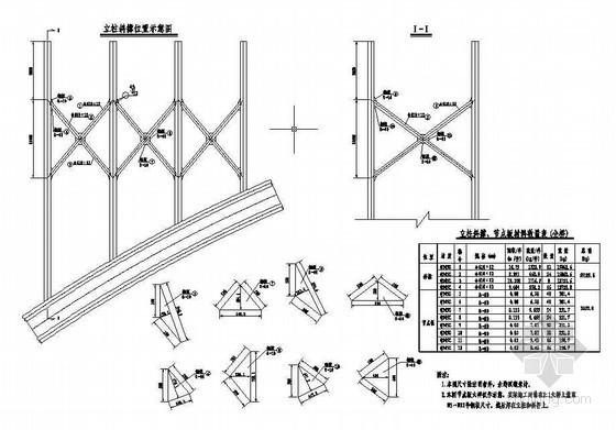 杭新景高速公路拱肋式大桥拱上立柱斜撑布置节点详图设计