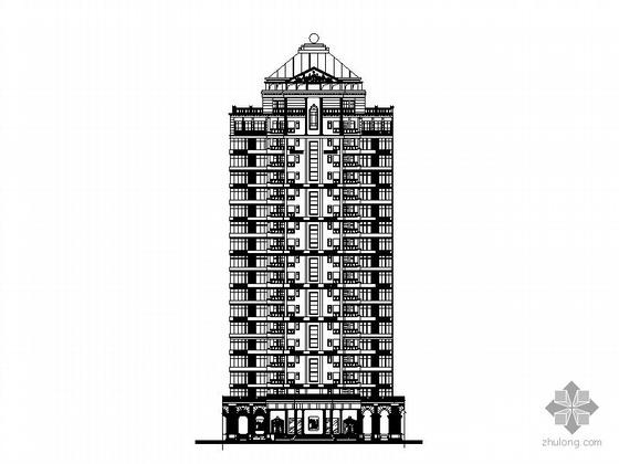 [广东]某五栋十九层板式高档住宅楼建筑施工图