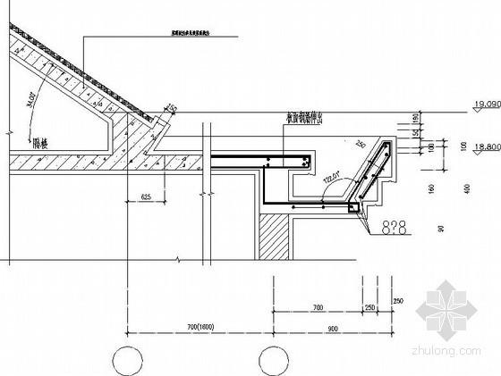 坡屋面檐口节点构造详图