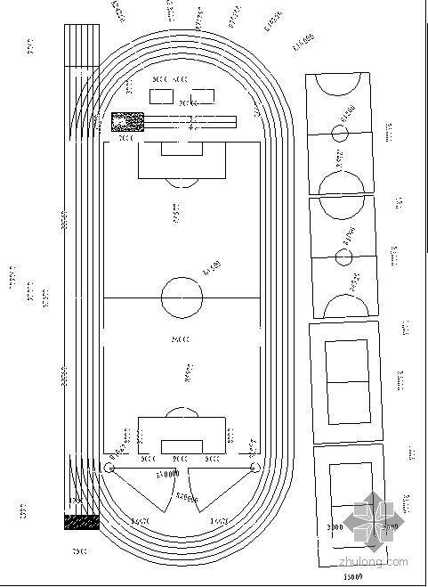 某学校景观设计运动场施工详图