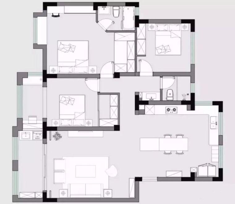 130平现代北欧风新房,每一处都有惊喜