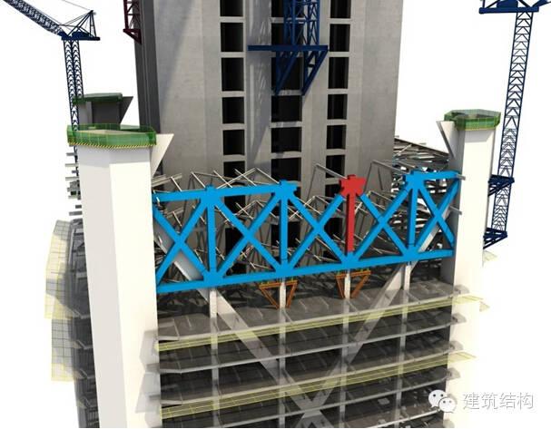 建筑结构丨超高层建筑钢结构施工流程三维效果图_9