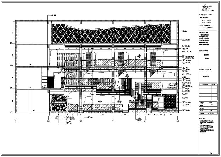 西安某私人会所室内设计施工图纸