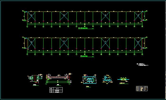 单层双跨实腹式门式刚架结构车间厂房结构施工图_5
