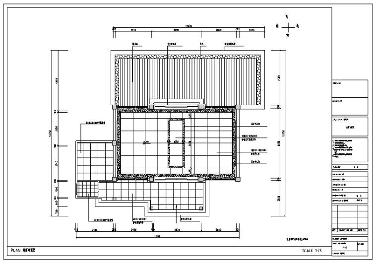 别墅型私人接待餐厅装饰施工图及效果图(27张)
