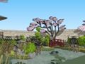 精致日式小花园SU模型