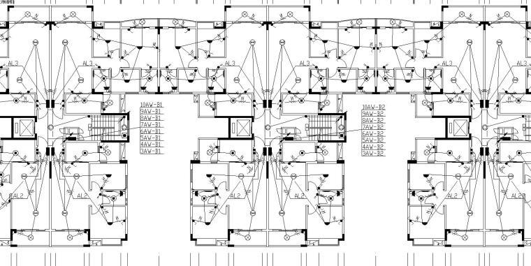 某住宅小区B栋电气施工图
