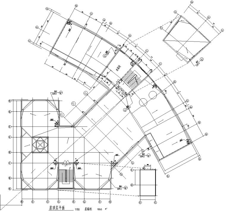 屋顶层平面图