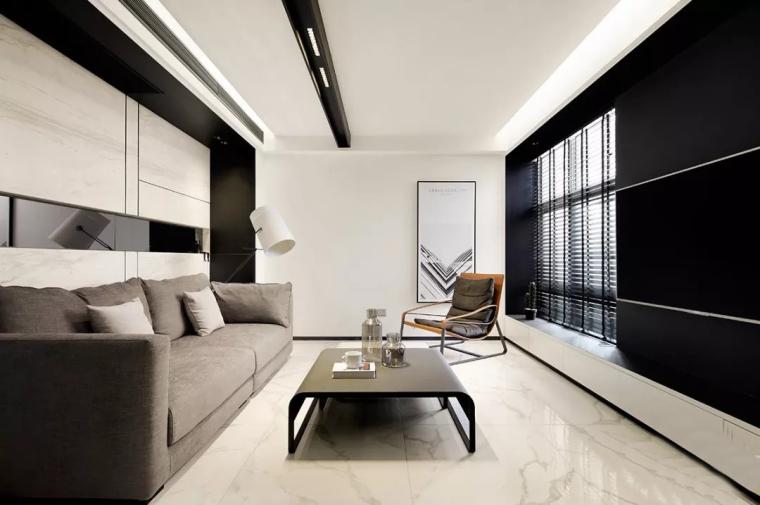 南京92㎡冷调现代住宅空间