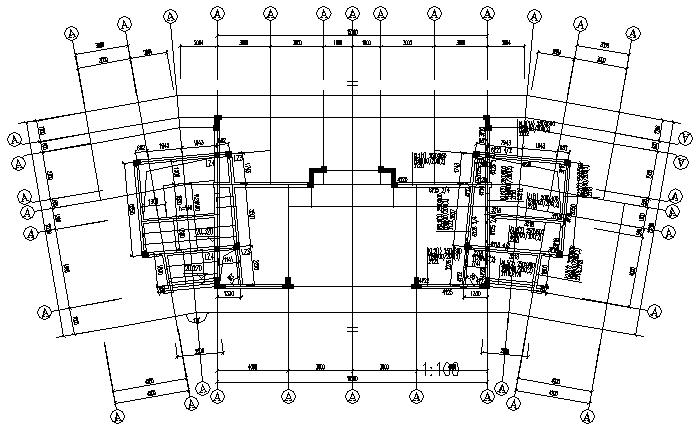 武汉某组团住宅框架结构施工图(CAD,4套)