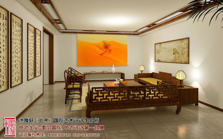 观塘别墅中式装修案例,品位古典高雅的审美格调_5