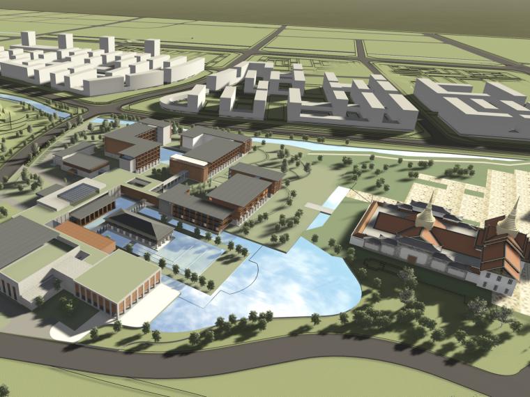 [云南]东南亚风格景区民族酒店群组团设计方案文本+施工图+模型(PPT+PDF+CAD+SU)