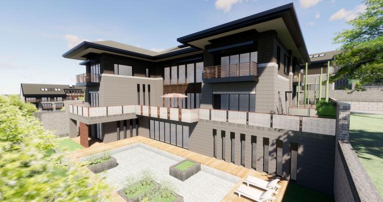西安华侨城108坊新中式别墅区建筑模型设计(2018年)