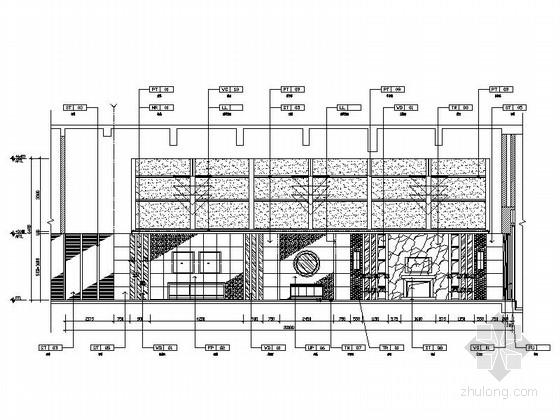 [苏州]高级会议酒店会所室内设计施工图 立面图