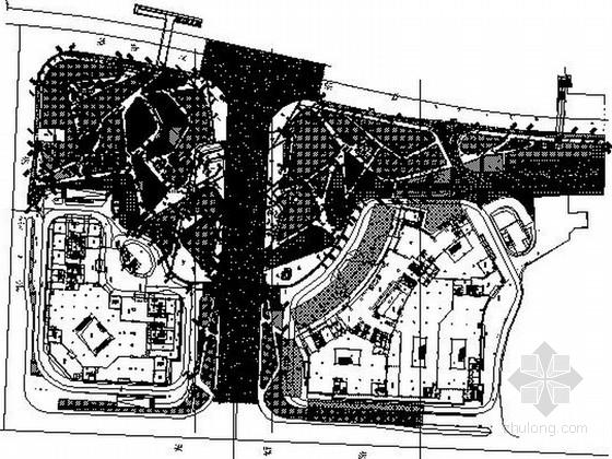 [湖南]综合休闲市民中心广场设计施工图(含效果图)