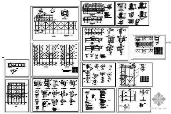 某钢料仓结构设计施工图