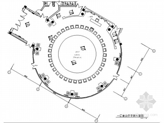 [东莞]五星级商务酒店现代宴会厅CAD装修施工图(含效果)